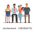 people using mobile phone and... | Shutterstock .eps vector #1581836731