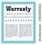 light blue retro warranty...   Shutterstock .eps vector #1581865201