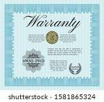 light blue warranty certificate ...   Shutterstock .eps vector #1581865324