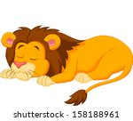 Lion Cartoon Sleeping
