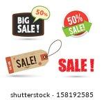 tag banner sale promotion set. | Shutterstock .eps vector #158192585