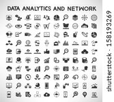 data analytic and social network icons set | Shutterstock vector #158193269