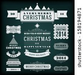 christmas decoration vector... | Shutterstock .eps vector #158194871