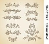 vector vintage baroque... | Shutterstock .eps vector #158198981