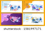 template for landing page ... | Shutterstock .eps vector #1581997171