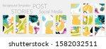 creative backgrounds for social ... | Shutterstock .eps vector #1582032511