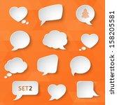 white paper bubbles for speech... | Shutterstock .eps vector #158205581