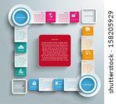 infographic design white... | Shutterstock .eps vector #158205929