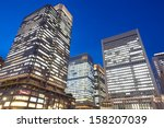 the high rise buildings in... | Shutterstock . vector #158207039