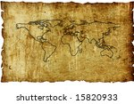vintage world map. map... | Shutterstock . vector #15820933