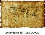 vintage world map. map...   Shutterstock . vector #15820933