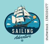 sailing ship on the adventure | Shutterstock .eps vector #1582101577