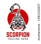 scorpion logo inspiration. icon ... | Shutterstock .eps vector #1582102837