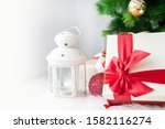 christmas gift boxes with... | Shutterstock . vector #1582116274