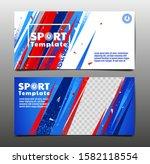 sport layout   template design  ... | Shutterstock .eps vector #1582118554