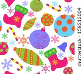 seamless pattern with a... | Shutterstock . vector #158212004