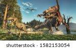 Spinosaurus Attacks Deinonychus ...
