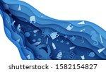 stop ocean plastic pollution... | Shutterstock .eps vector #1582154827