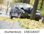 road accident car crash on an... | Shutterstock . vector #158218337