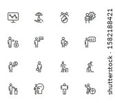 professional line icon set.... | Shutterstock .eps vector #1582188421