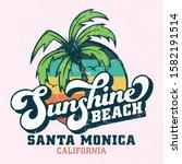 sunshine beach santa monica  ... | Shutterstock .eps vector #1582191514