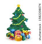 a beautifully decorated... | Shutterstock . vector #1582208074