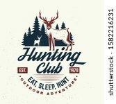 hunting club. eat  sleep  hunt. ... | Shutterstock .eps vector #1582216231