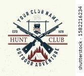 hunting club. vector. concept... | Shutterstock .eps vector #1582216234