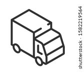 truck  isometric view  linear...   Shutterstock .eps vector #1582219564