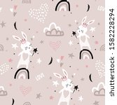 seamless childish pattern with...   Shutterstock .eps vector #1582228294