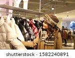 elegang young woman enjoys... | Shutterstock . vector #1582240891