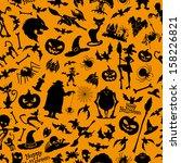 vector. halloween background. | Shutterstock .eps vector #158226821