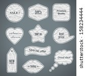 grunge stickers. retro labels.... | Shutterstock .eps vector #158234444