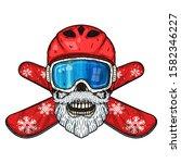 snowboarder. skull snowboarder... | Shutterstock .eps vector #1582346227