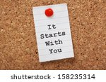 the words it starts with you... | Shutterstock . vector #158235314