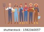 farmers and harvesting... | Shutterstock .eps vector #1582360057