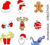 christmas icons | Shutterstock .eps vector #158237435