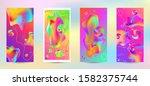 trendy creative vector space... | Shutterstock .eps vector #1582375744
