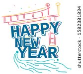 wow 2020  new year... | Shutterstock . vector #1582381834