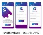 startup mobile application set...