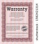 red retro warranty template....   Shutterstock .eps vector #1582421314