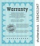 light blue warranty template....   Shutterstock .eps vector #1582421347