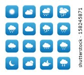 weather buttons | Shutterstock .eps vector #158245871