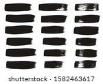 calligraphy paint wide brush... | Shutterstock .eps vector #1582463617