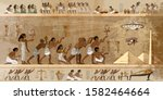 ancient egypt art. paleocontact ... | Shutterstock .eps vector #1582464664