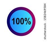 blue purple percentage vector...