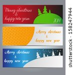 merry christmas and happy new... | Shutterstock .eps vector #158247944