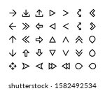 arrows line icons. direction...