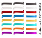 colorful ribbon banner flags... | Shutterstock .eps vector #1582504084