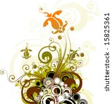 floral abstract. suits well as... | Shutterstock .eps vector #15825361